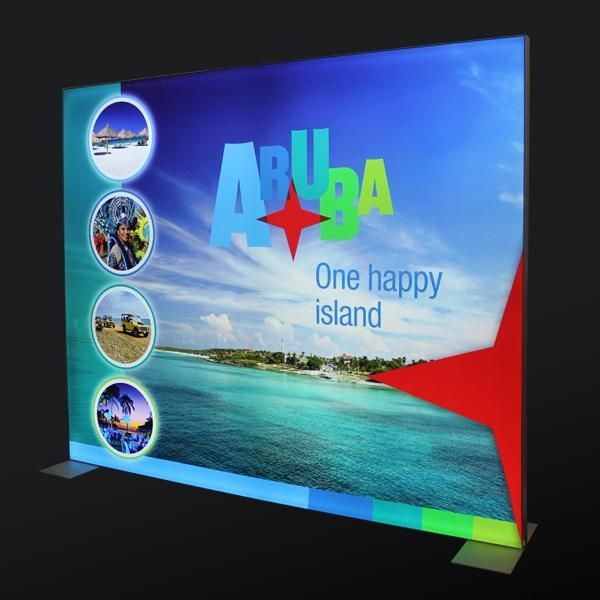 Freestanding LitexFrame - LEDs light up your image, and amplifies your display content
