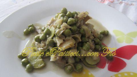 Frittedda: Fave, carciofi, piselli e patate