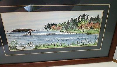 Wisconsin River from Bukolt Park Stevens Point Wisconsin Art by C. J. Watkins