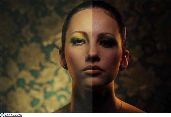 Уроки Дизайнера : Ретушь лица - спасаем технически загубленное фото ...