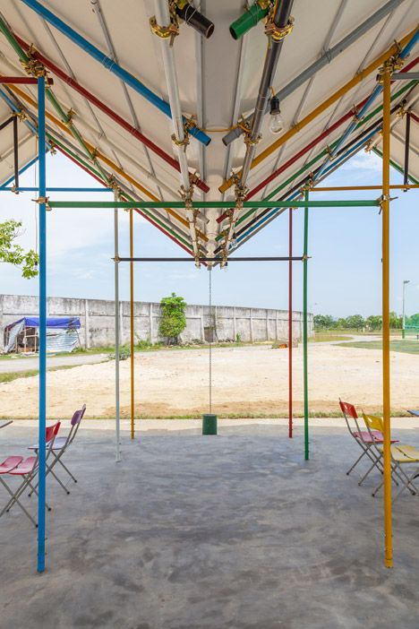H&P Architects uses recycled materials for Re-ainbow community centre in Vietnam