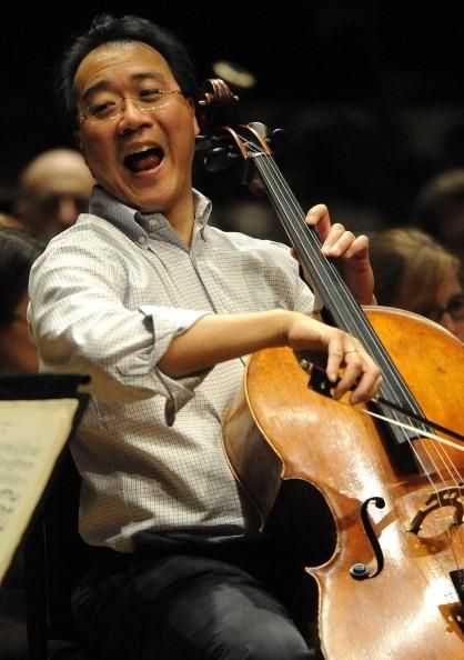 Yo-Yo Ma! I have just devolved a major crush on this 58 year old married cellist who is the happiest musician ever!!!!! Someday me, him, and David Garrett will all be the world's greatest trio ever!!!!!!