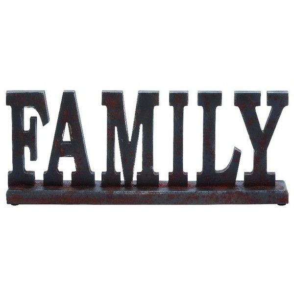 """Family"" Vintage-Style Decor - Transitional - Decorative Objects And... ❤ liked on Polyvore featuring home and home decor"