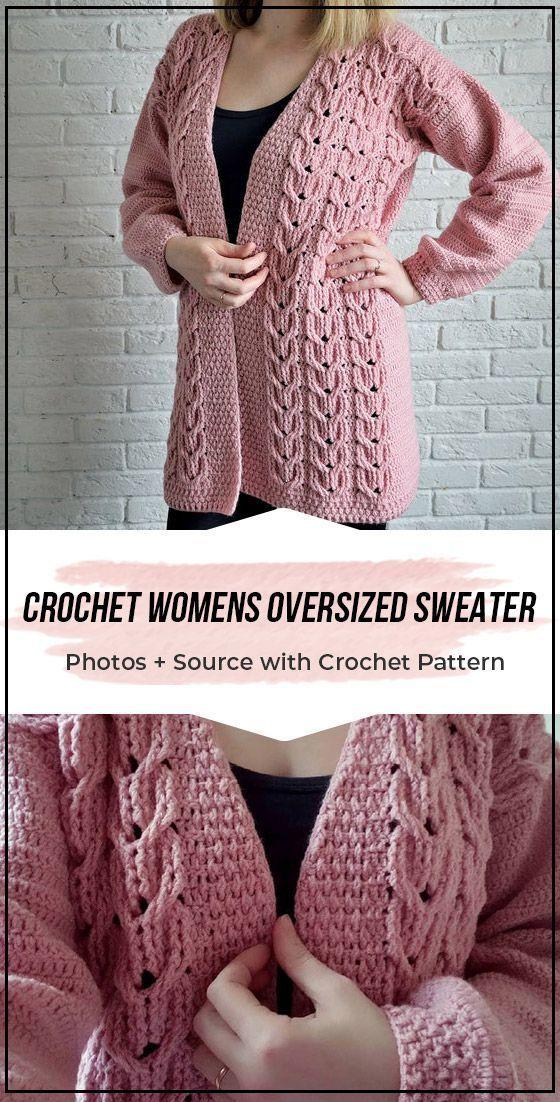 Crochet Womens Oversized Sweater pattern 1