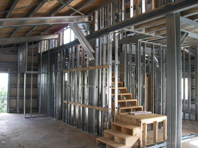 Building Aluminum Frames : Steel frame gambrel type homes starting from hq
