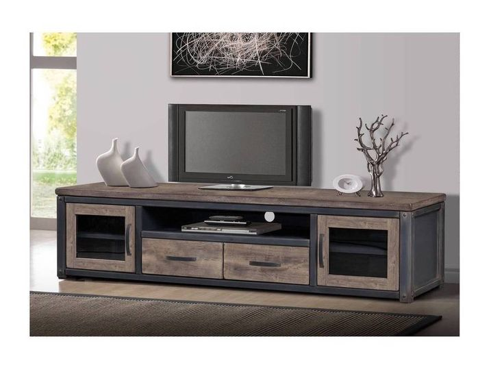 Rustic Entertainment Center TV Stand Console Storage Media Farmhouse Vintage #Heritage #TransitionalVintageRusticWeathered