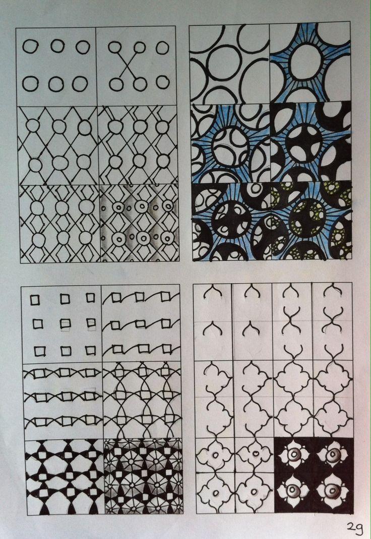 Zentangle tutorial Zentangle stappenplan