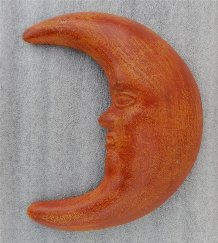 "9-1/2"" Large Moon Face Terra Cotta, Cara de La Luna Wall Hanging Tonala Art #Tonala #LosCocosStore"