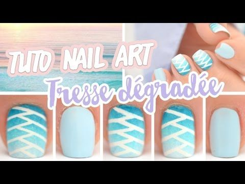 Nail art ♡ Tresse dégradée - YouTube