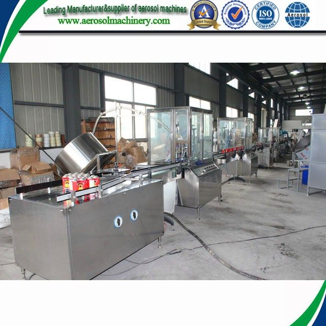 Factory Refillable Aerosol Spray Bottle Filling Machine On Sale     More: https://www.aerosolmachinery.com/sale/factory-refillable-aerosol-spray-bottle-filling-machine-on-sale.html