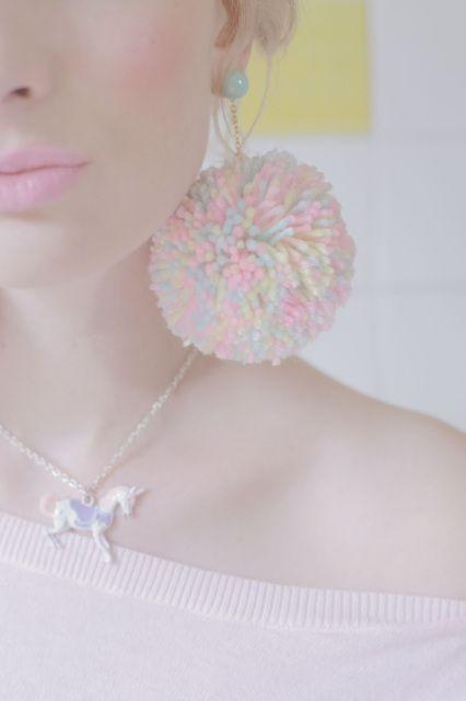 Pom girl earrings!