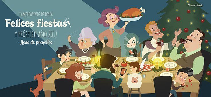 Christmas illustration iamcreativos