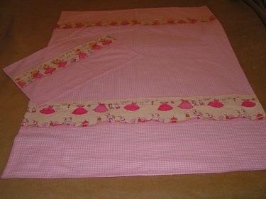 Süße rosa Prinzessin Bettwäsche