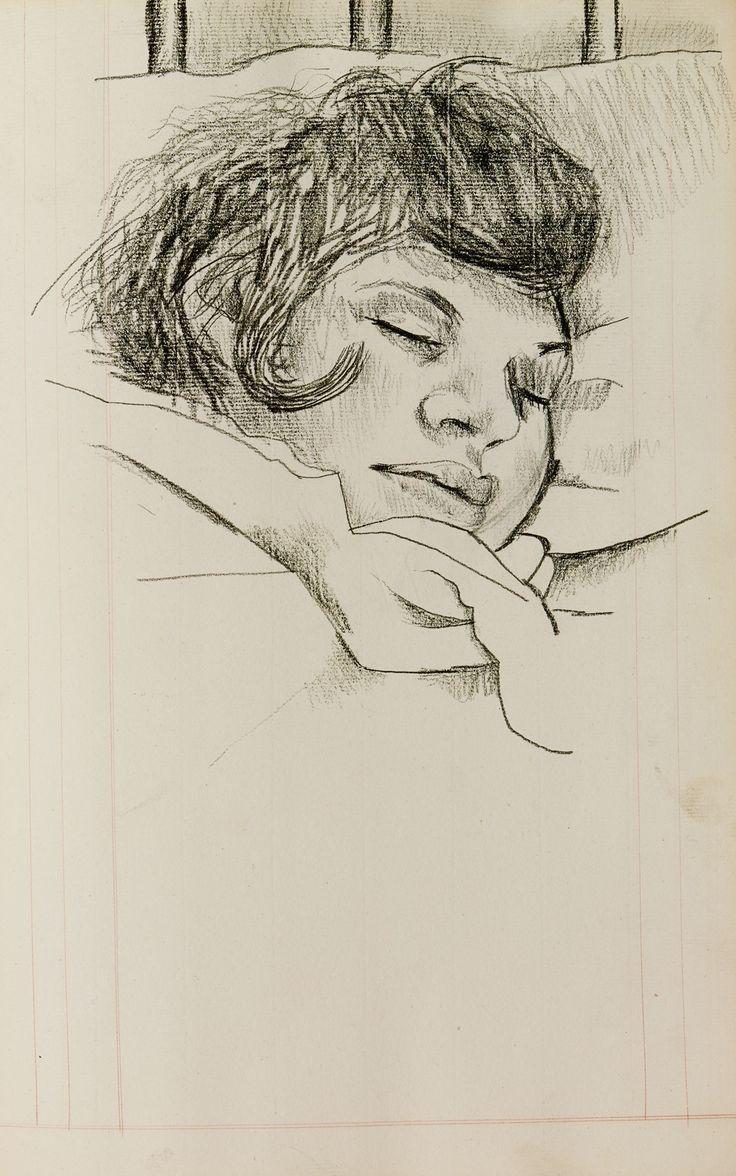 Lucian Freud: Girl sleeping, date unknown More