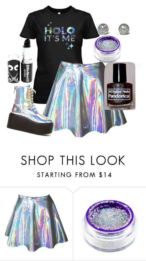 """""""Simply Nailogical!"""" by adventuretimekitty ❤ liked on Polyvore featuring holographic, holo, simplynailogical and holoitsme"""