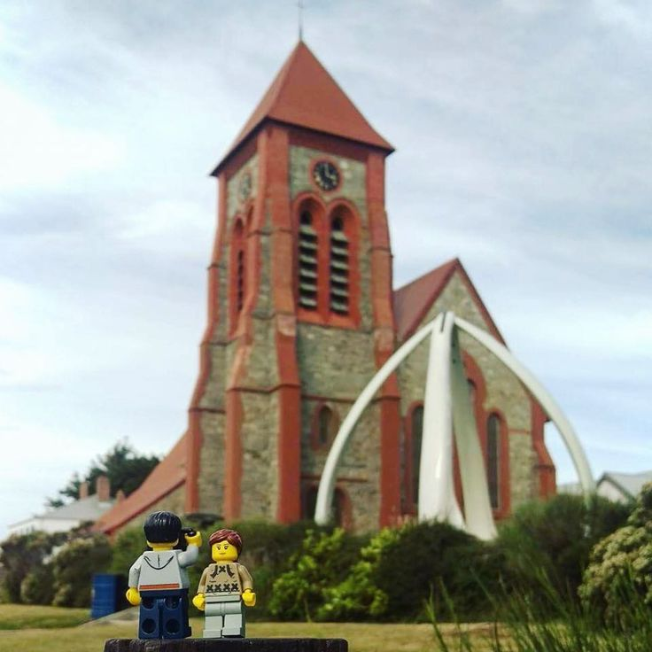 The southernmost Anglican cathedral and an arch made from 4 blue whale jaw bones - makes for quite the dramatic photo #christchurchcathedral #whalebonearch #cathedral #whalebone #arch #southatlantic #stanley #falklandislands #lego #travel #travelling #legoland #globetrotting #legolad #legolass #backpacking #minifigures #adventure #legos #legobrick #legophotography #legostagram #legominifigures #legophoto #legoworld