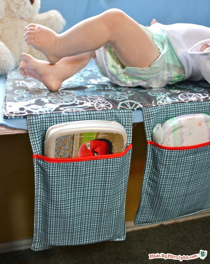 tutorial: make an all-in-one baby changing mat that folds up into a clutch.