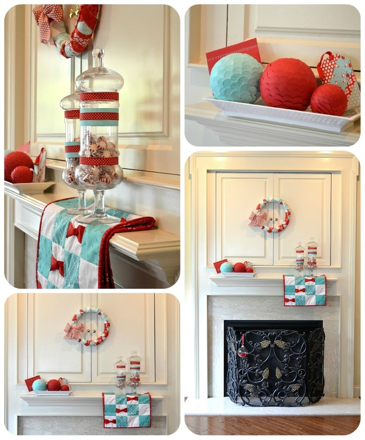 Red Turquoise Not Just For Holiday Decor: 29 Best Teal & Red Christmas Images On Pinterest