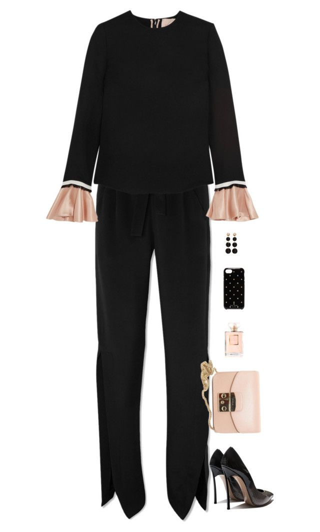 """Untitled #9339"" by miki006 ❤ liked on Polyvore featuring Roland Mouret, Roksanda, Furla, Chanel, MANGO and Kate Spade"