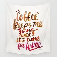 Coffee & Wine – Brown & Magenta Ombré Wall Tapestry