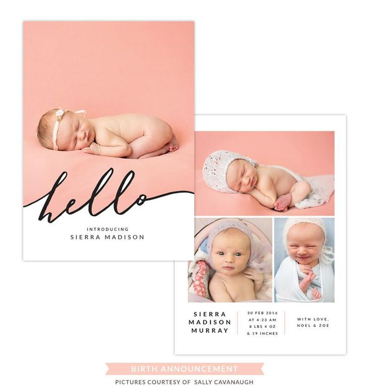 #60 Birth Announcement | Calligraphy hello
