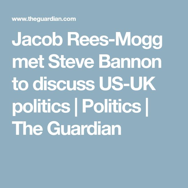 Jacob Rees-Mogg met Steve Bannon to discuss US-UK politics   Politics   The Guardian