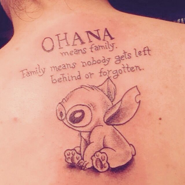 Ohana Means Family Quote Tattoo