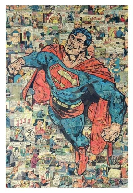 'Superman' collage by Mike Alcantara.