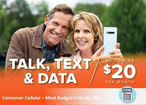 Consumer Cellular Most Budget Friendly Plan For Seniors In 2020 Cheapest Cell Phone Plans Phone Plans Cell Phone Plans