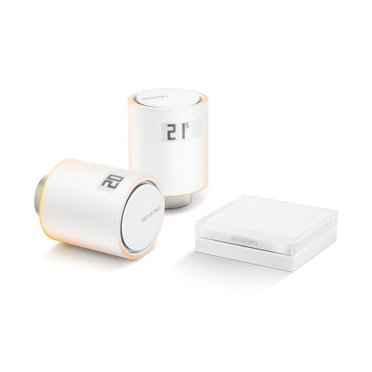 Netatmo Smart Radiator Valves elementventiler (Startpaket) – Spara 37 % av din energiförbrukning