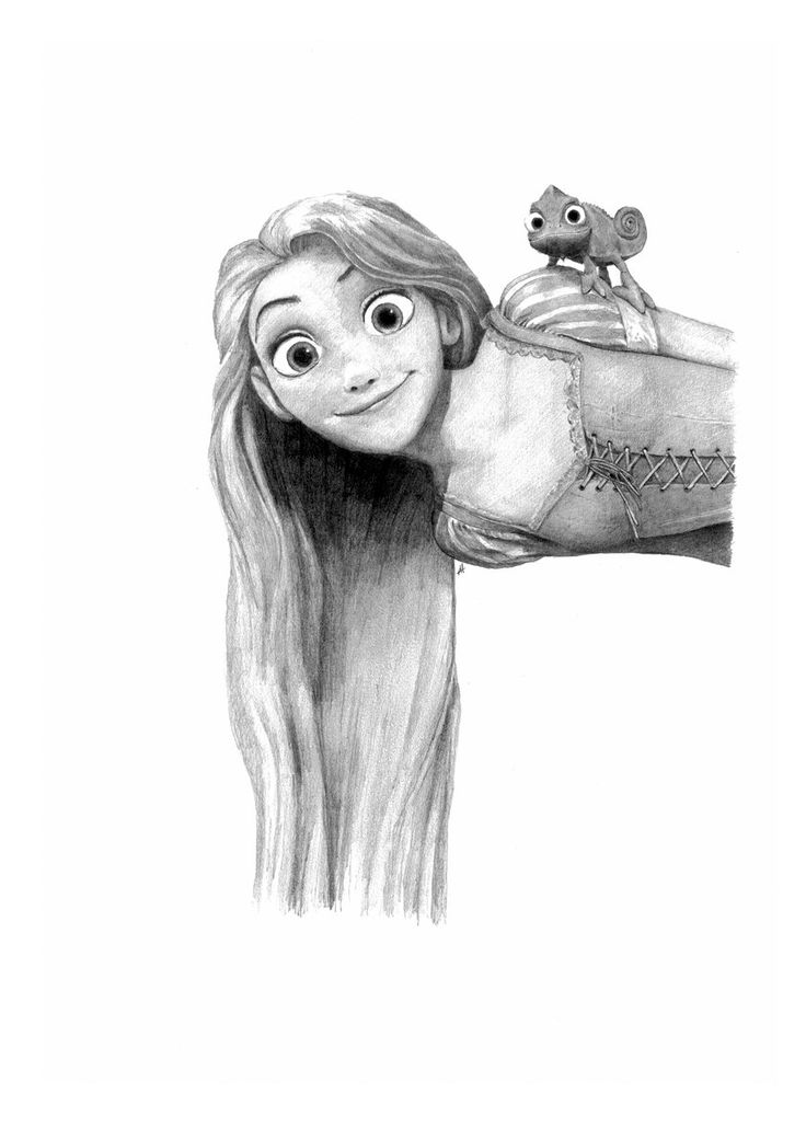 Tangled rapunzel pencil drawing raperonzolo disegni e for Disegni a matita disney