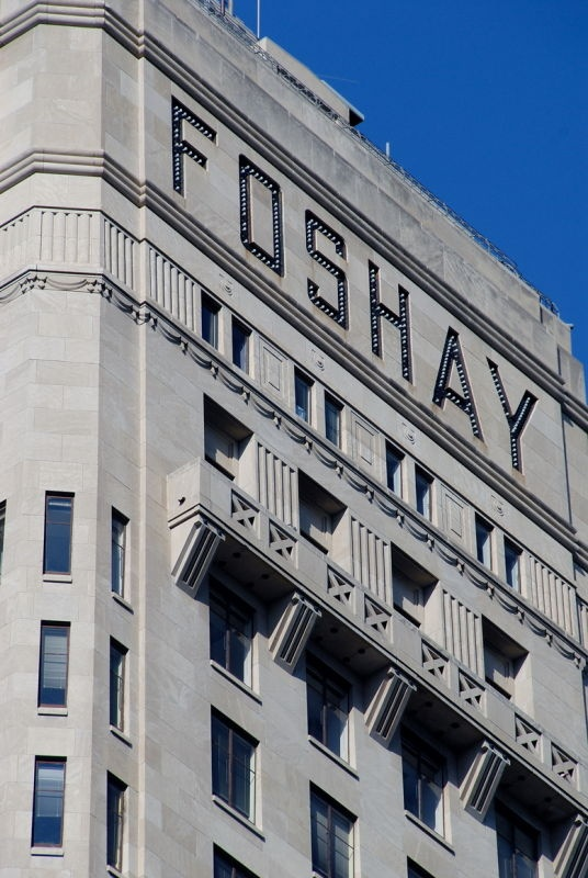 The Foshay building was once the tallest building in the skyline now it is towered over by others
