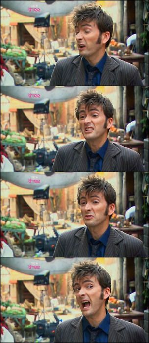 Just some of David Tennant's many wonderful (and slighty strange) facial expressions