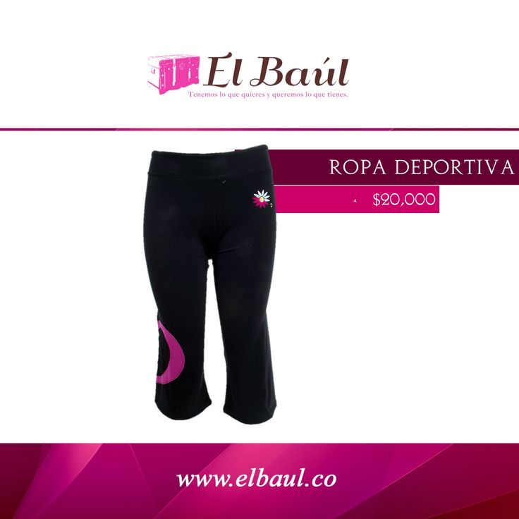 Ropa Deportiva $20,000  http://elbaul.co/Productos/1318/Ropa-Deportiva-negra-con-fucsia-