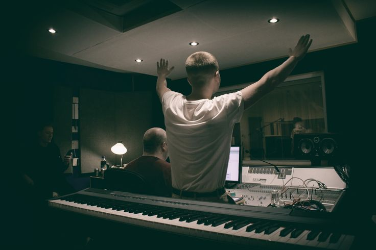 Wild Youth in studio with producer Phil McGee