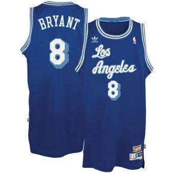 Mens Los Angeles Lakers Kobe Bryant 2003-2004 Adidas Blue Hardwood Classics Swingman Jersey
