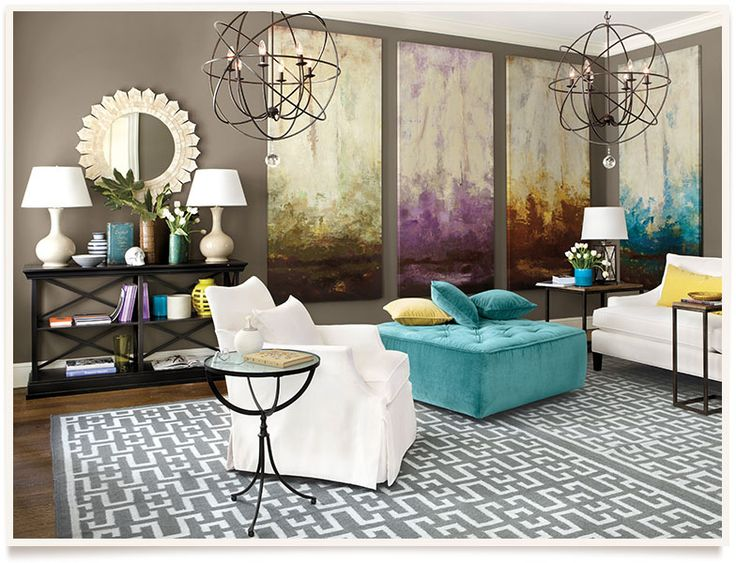 Shop By The Room. Art Panel Idea, Console Table, Side Tables, Ottoman