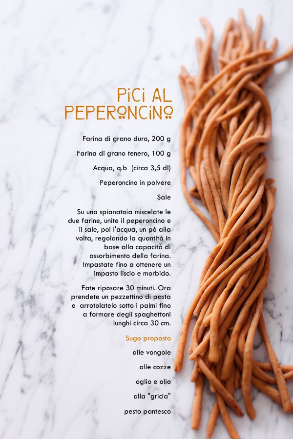 Pici (fatti in casa) con il peperoncino - COOK AND THE CITY