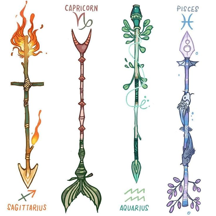 regram @_picolo Zodiac Arrows (3/3) DESCRIPTION BELOW   Sagittarius were not influenced by Aries custom arrows. As natural archers their arrows were always the shape of their zodiac sign. These arrows can travel unbelievable distances and are often mistaken by shooting stars  Capricorns were always resilient to big changes so they decided to modify their arrow only once and never again. The fish tail in the place of the fletching is reminiscent of their sign symbol (a sea goat). It can…