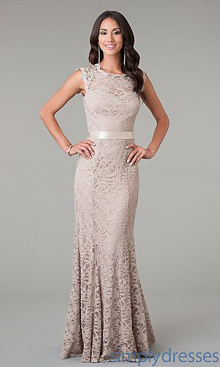 Sleeveless Floor Length Lace Dress at SimplyDresses.com @janiebtx what do you think about this for you??
