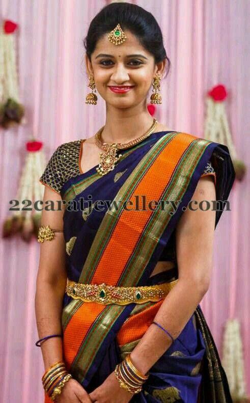 6e1b849a6c Pin by Susmi.D on Beautiful Girls | Temple jewellery, Saree wedding ...