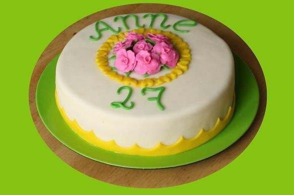 A birthday cake for Anne. Made by AMBD.