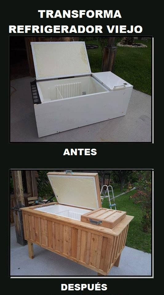 Reuse Recycle, Backyards Parties, Icechest, Outdoor Kitchens, Outdoor