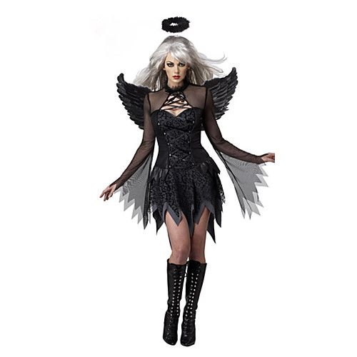 Angel/Devil Cosplay Costumes Party Costume Female Halloween Festival/Holiday Halloween Costumes Black Patchwork - CAD $26.79 ! HOT Product! A hot product at an incredible low price is now on sale! Come check it out along with other items like this. Get great discounts, earn Rewards and much more each time you shop with us!