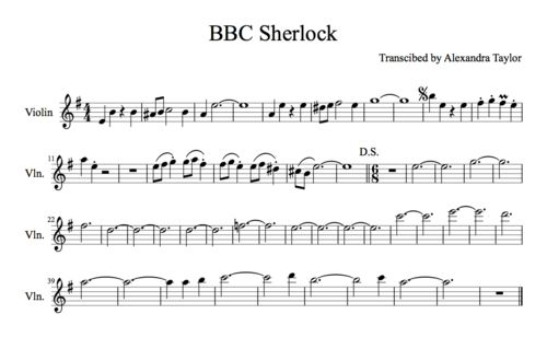 BBC Sherlock Theme composed by David Arnold and Michael Price Transcribed by Me Sounds right to me! My tea's gone cold :( oh well… Happy Playing~! :D Edit: Sorry, 3/4 time not 6/8 after the break (>_<)