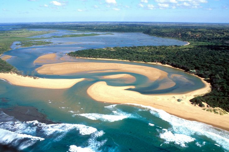 Aerial view of Kosi Bay, South Africa. This image is from Fit for the Wild.