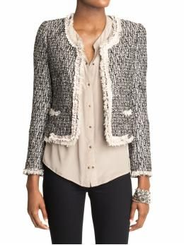 i always want to buy these jackets when i see them at goodwill but i'm afraid i will look grandma instead of chic