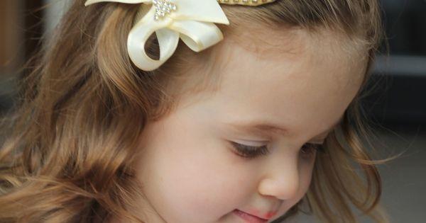 Faixa de cabelo coração de pérolas | Ems