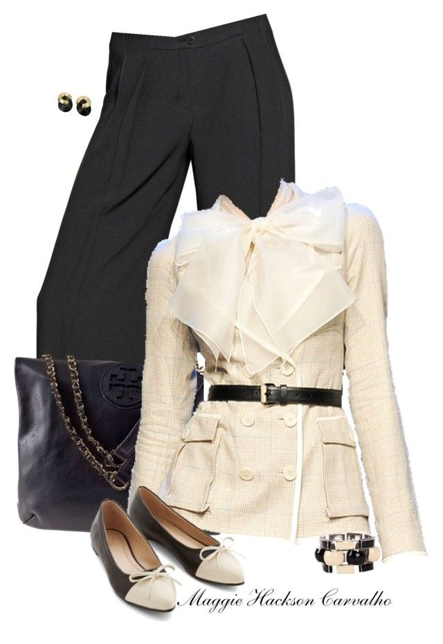 """""""• Work Wear •"""" by maggie-jackson-carvalho ❤ liked on Polyvore featuring Emporio Armani, Tory Burch, Jason Wu and J.W. Anderson"""