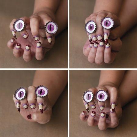 Halloween finger nails | Diy funfetti candle, Diy crafts ...